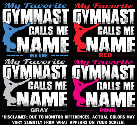 Image of My Favorite Gymnast Design Color Options 1