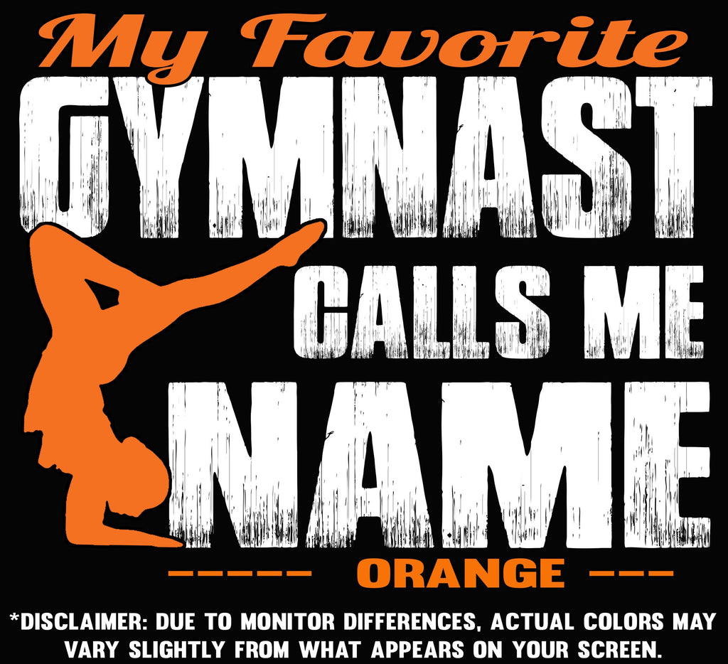 My Favorite Gymnast Design Color Orange