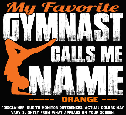 Image of My Favorite Gymnast Design Color Orange