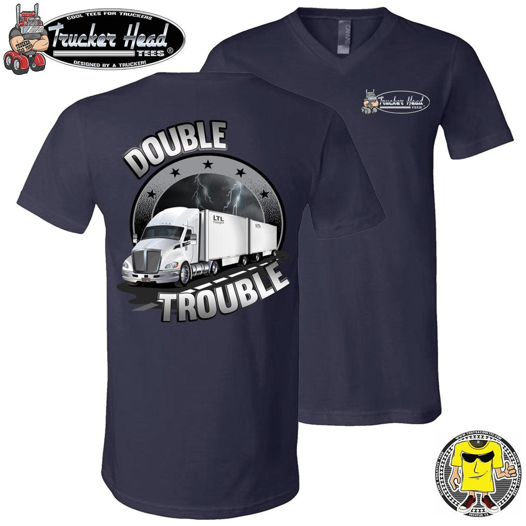 Double Trouble LTL Truck Driver T-Shirt nv