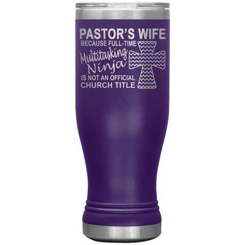Pastor's Wife Multitasking Ninja Funny Pastor's Wife Tumbler purple