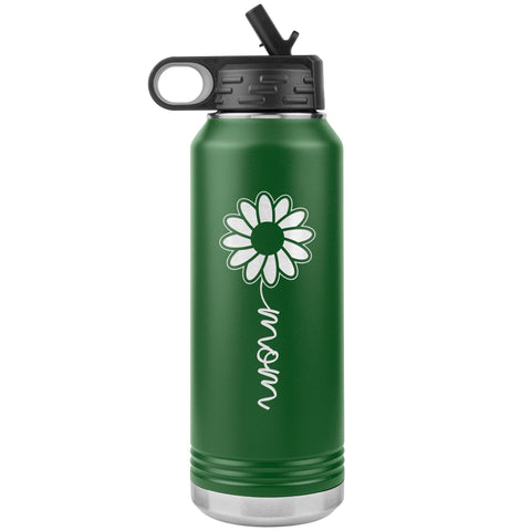 Image of Sunflower Mom Water Bottle Tumblers green