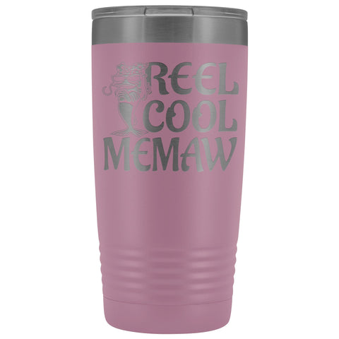 Image of Reel Cool Memaw Fishing 20oz Tumbler light purple