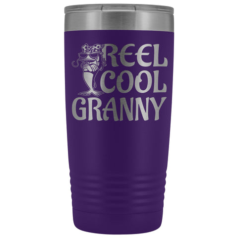 Reel Cool Granny Fishing 20oz Tumbler purple