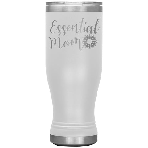Essential Mom Tumbler Cup white