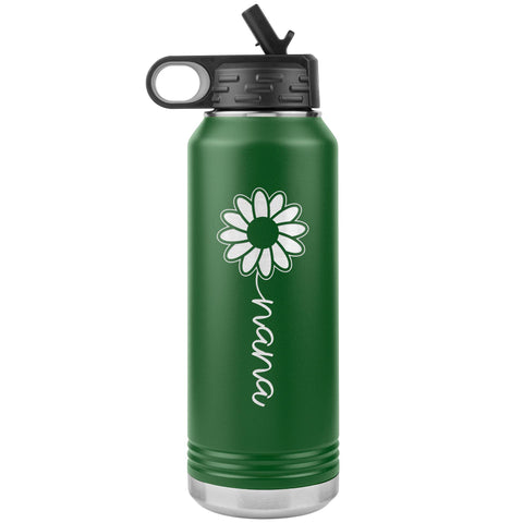 Sunflower Nana Water Bottle Tumblers green
