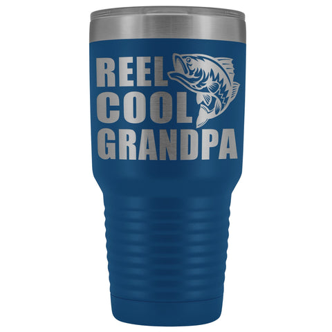 Image of Reel Cool Grandpa 30oz. Tumblers Grandpa Fishing Travel Mug blue
