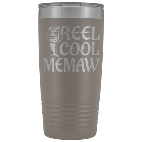 Reel Cool Memaw Fishing 20oz Tumbler pewter
