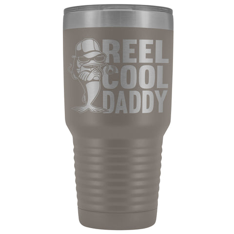 Image of Reel Cool Daddy 30oz.Tumblers Daddy Travel Coffee Mug pewter