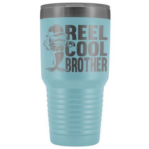 Image of Reel Cool Brother 30oz.Tumblers Brothers Travel Coffee Mug light blue