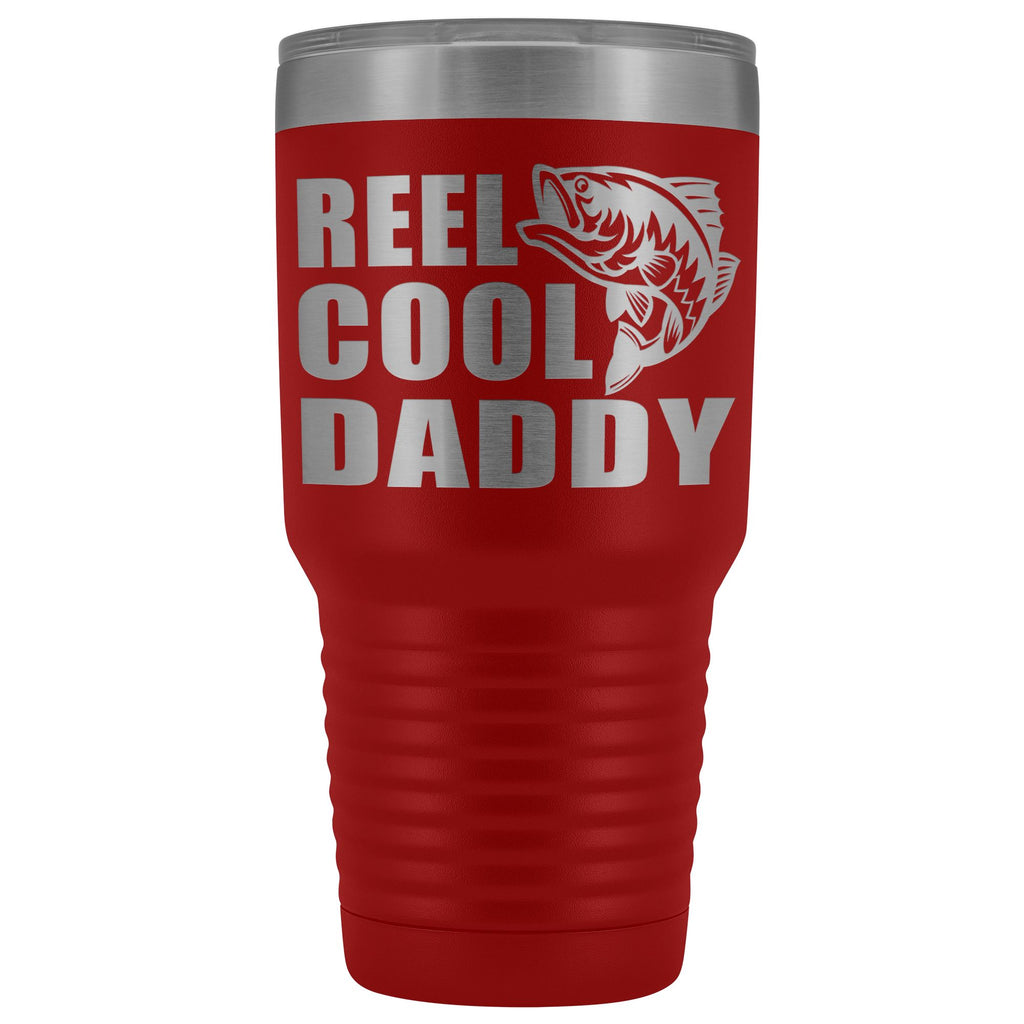 Reel Cool Daddy 30oz.Tumblers Daddy Travel Coffee Mug red