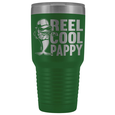 Image of Reel Cool Pappy Fishing Pappy Tumbler green