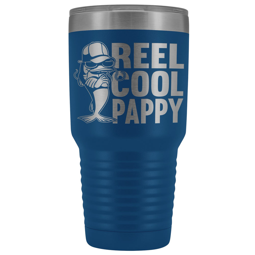 Reel Cool Pappy Fishing Pappy Tumbler blue