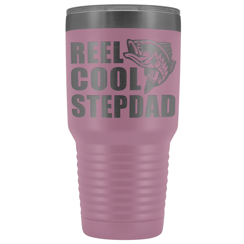 Reel Cool Stepdad 30oz. Tumblers Step Dad Travel Mug light purple