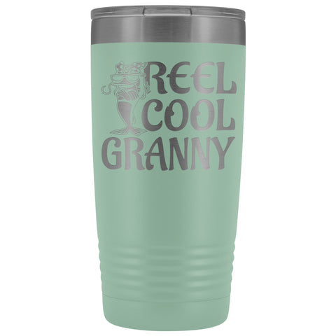 Image of Reel Cool Granny Fishing 20oz Tumbler teal