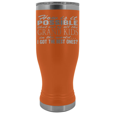 Best Grand Kids Grandparent Tumblers orange