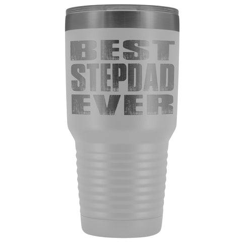 Image of Best Stepdad Ever 30 Ounce Vacuum Tumbler white