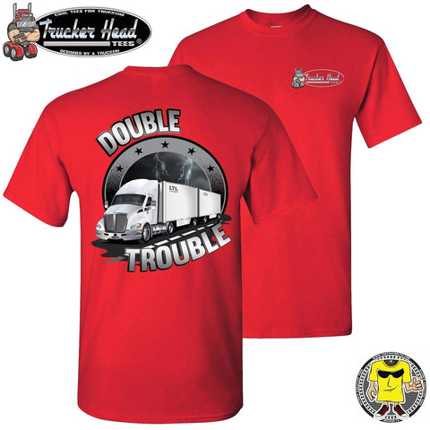 Image of Double Trouble LTL Truck Driver T-Shirt rc