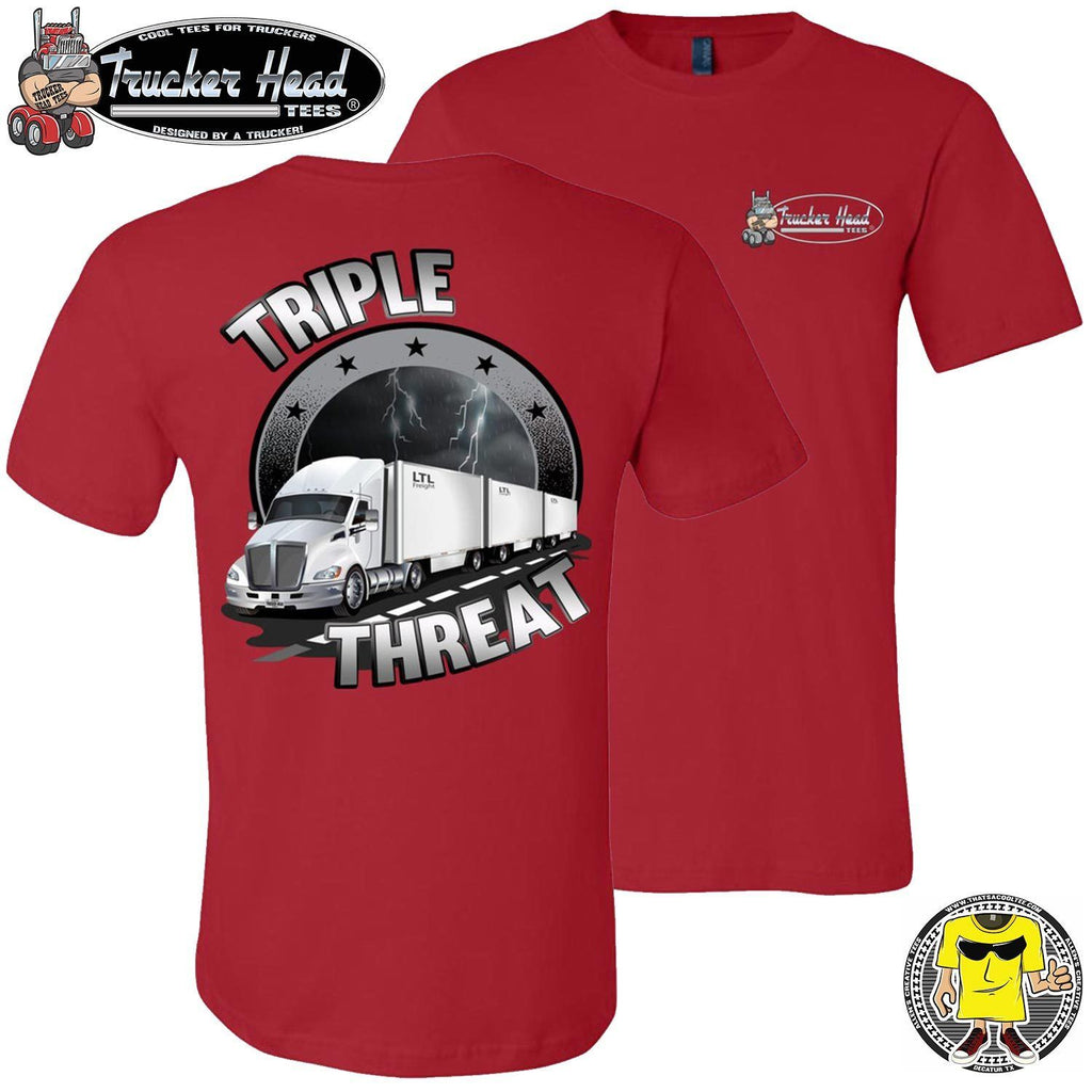 Triple Threat LTL Truck Driver T-Shirt rc