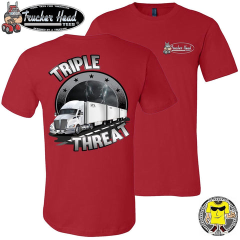 Image of Triple Threat LTL Truck Driver T-Shirt rc