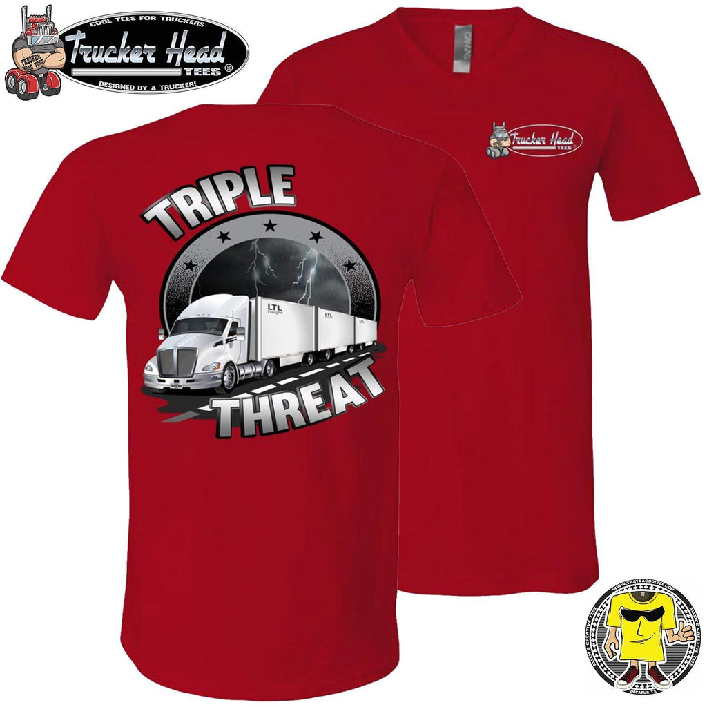 Triple Threat LTL Truck Driver T-Shirt rv