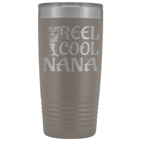 Reel Cool Nana Fishing 20oz Tumbler pewter