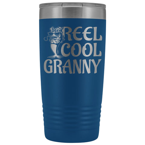 Reel Cool Granny Fishing 20oz Tumbler blue