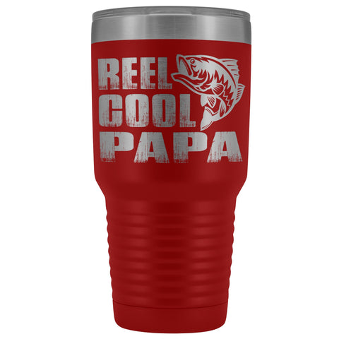 Reel Cool Papa Fishing Papa Tumbler red