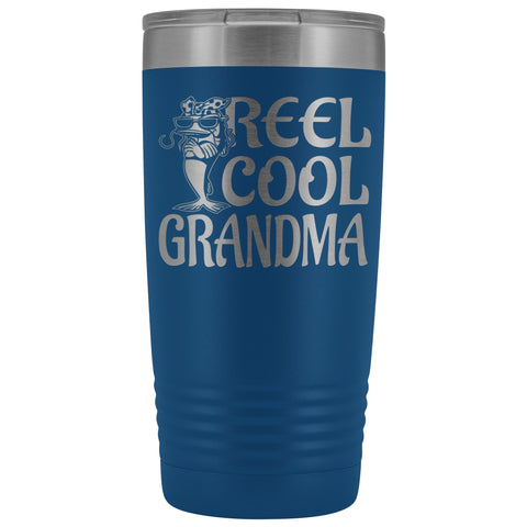 Image of Reel Cool Grandma Fishing 20oz Tumbler blue
