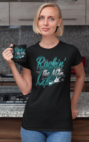 Image of Rockin' The Mom Life Mom t-shirts mock up