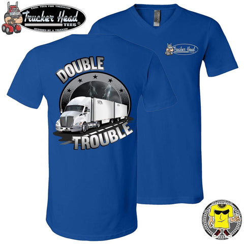 Image of Double Trouble LTL Truck Driver T-Shirt rlv