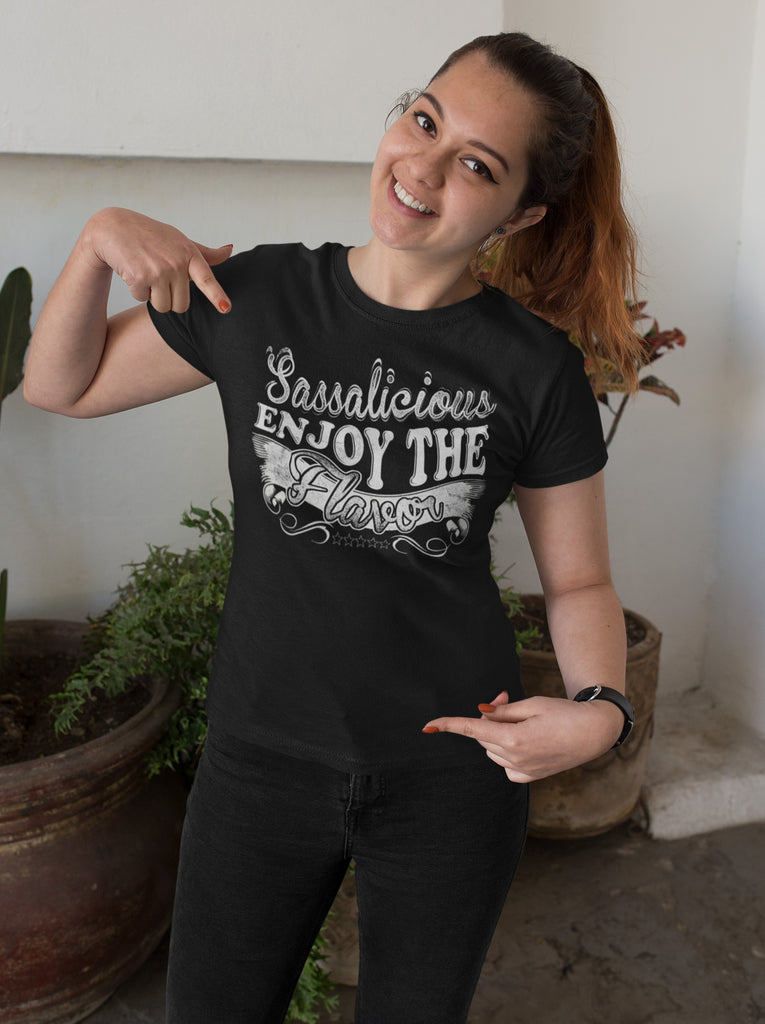Sassalicious Enjoy The Flavor! Sassy Shirts mock up
