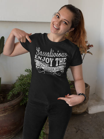 Image of Sassalicious Enjoy The Flavor! Sassy Shirts mock up