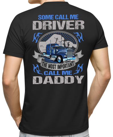 Image of Some Call Me Driver Trucker Dad Shirt 2 mock up