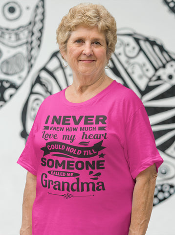 Image of I Never Knew How Much My Heart Could Hold Grandma shirts mock up