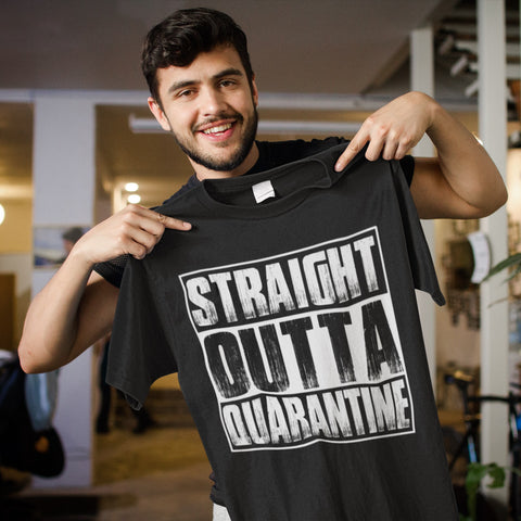 Image of Straight Outta Quarantine Funny Shirts mock up
