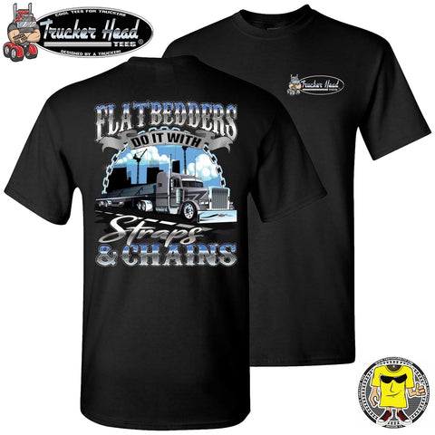 Image of FlatBedders Do It With Straps & Chains Flatbedder T Shirt black crew