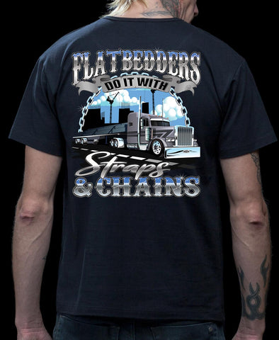 FlatBedders Do It With Straps & Chains Flatbedder T Shirt mock up
