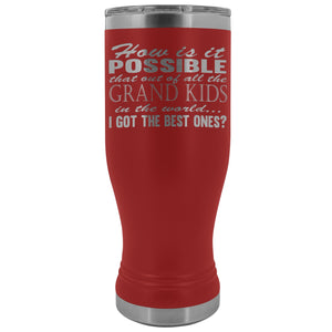 Best Grand Kids Grandparent Tumblers red