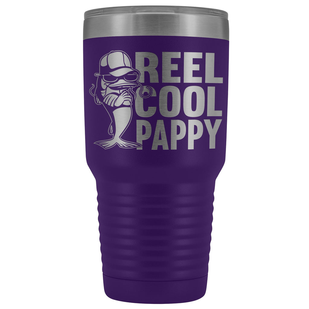 Reel Cool Pappy Fishing Pappy Tumbler purple