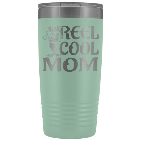 Image of Reel Cool Mom Fishing 20oz Tumbler Fishing Mom Gifts teal