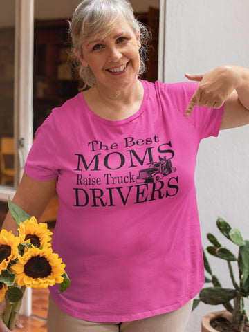 Image of The Best Moms Raise Truck Drivers Trucker's Mom Shirt mock up