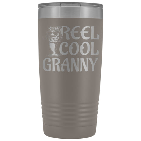 Reel Cool Granny Fishing 20oz Tumbler pewter