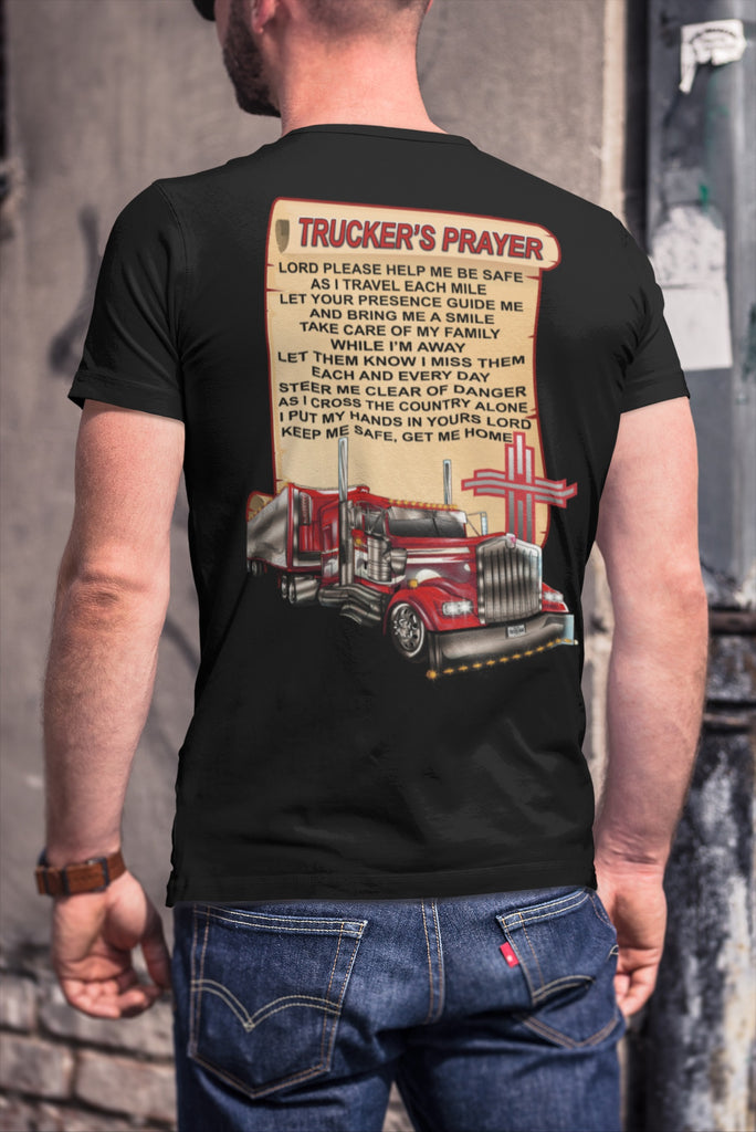 Trucker's Prayer Trucker Shirt christian trucker shirts