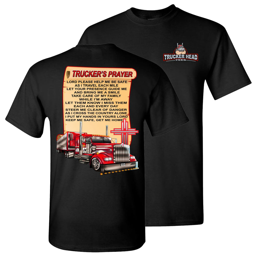 Trucker's Prayer Trucker Shirt christian trucker shirts black