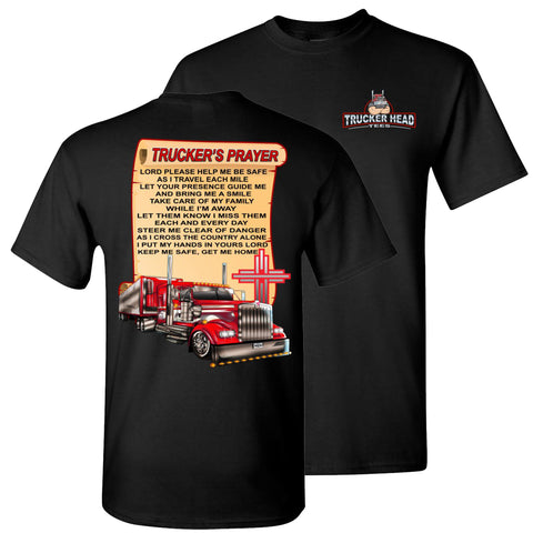 Image of Trucker's Prayer Trucker Shirt christian trucker shirts black