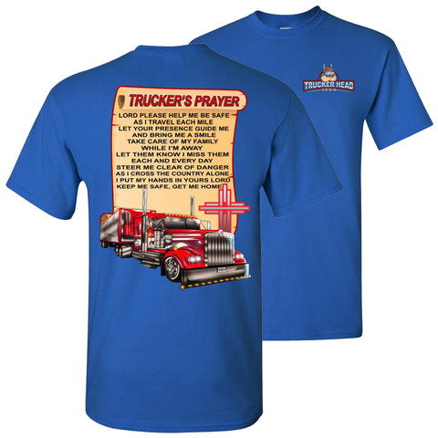 Trucker's Prayer Trucker Shirt christian trucker shirts  royal