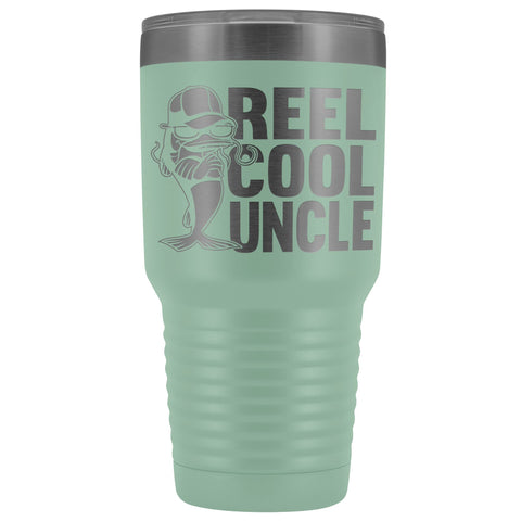 Image of Reel Cool Uncle 30oz. Tumblers Uncle Travel Mug teal