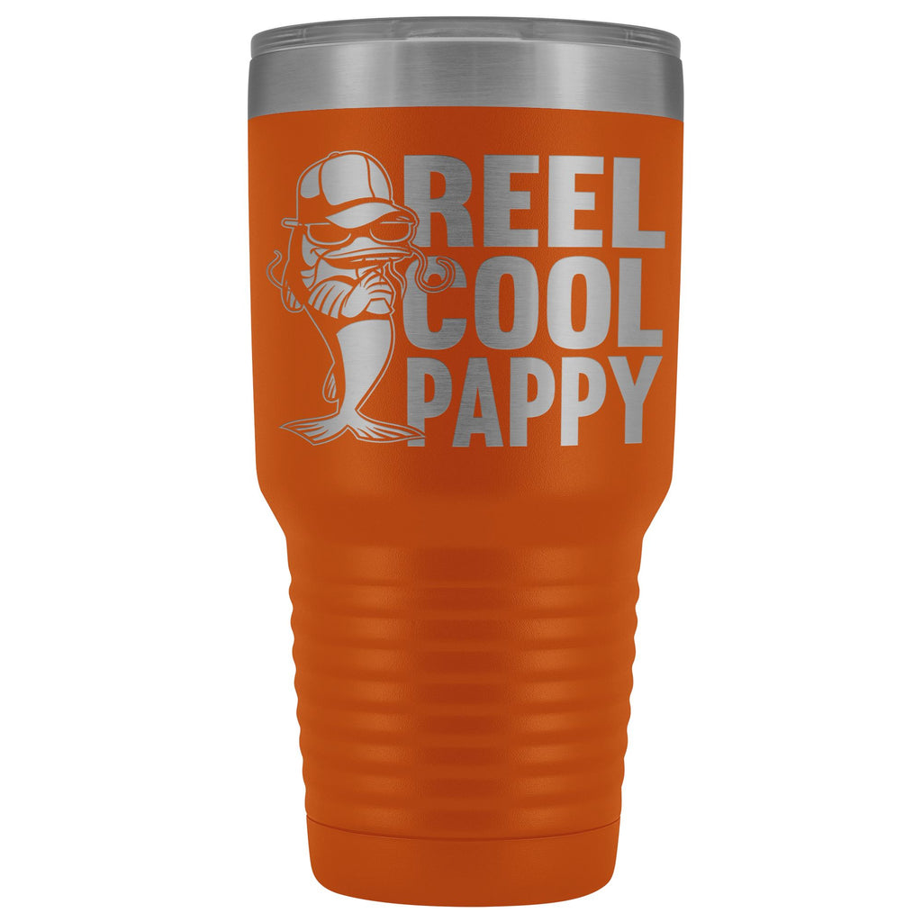Reel Cool Pappy Fishing Pappy Tumbler orange