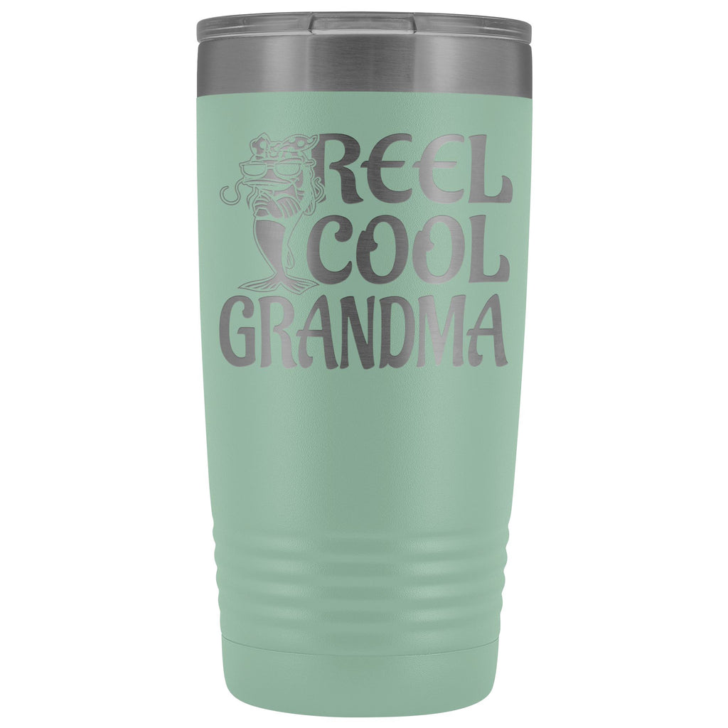 Reel Cool Grandma Fishing 20oz Tumbler teal